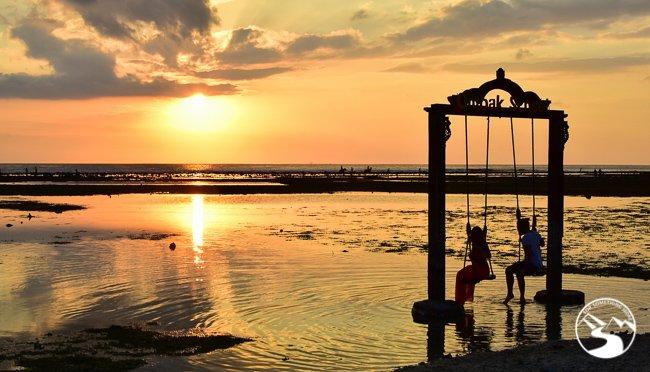 A sunset in the Gili Islands Bali