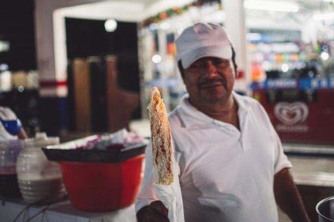 man selling food
