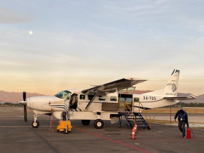 Aero Tucan flight Oaxaca to Puerto Escondido