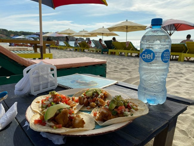 things to do in oaxaca include eating Fish tacos on the beach