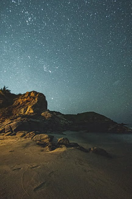astrophotography of the beach