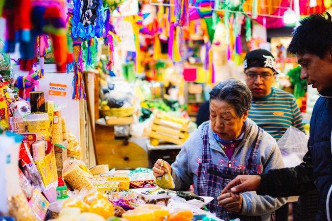Old woman in Oaxaca market things to do in Oaxaca