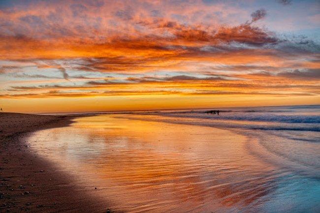 sunset at La Bocana Beach
