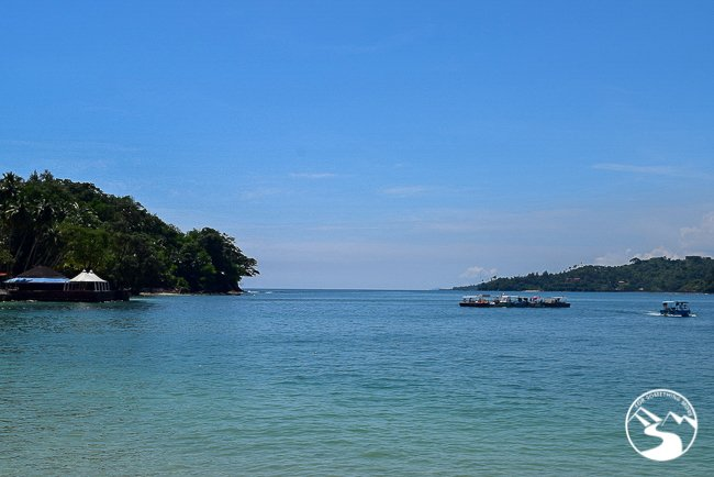 blue lagoon on Andaman Islands with kids and infants