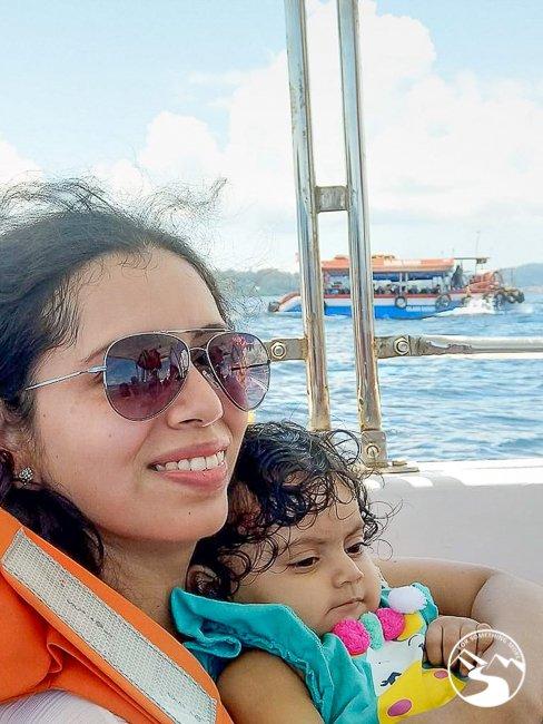 ridding a ferry between Andaman Islands