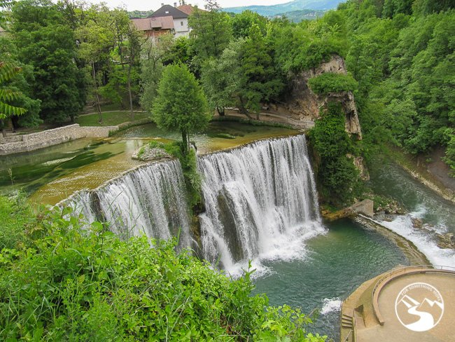 Pliva Waterfall is in the city center