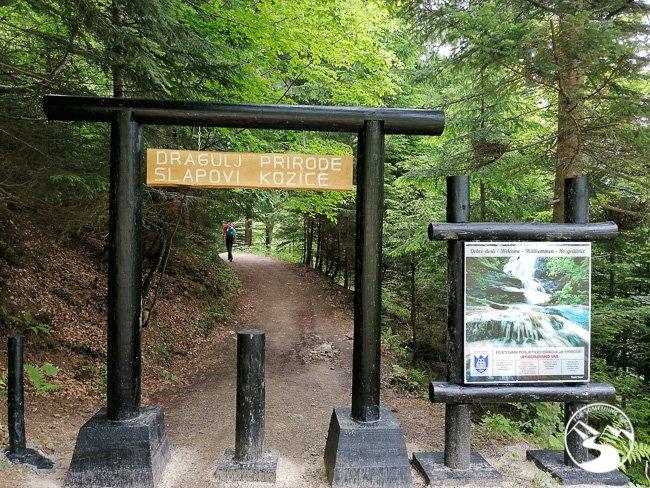 Trail to Kozica Waterfall
