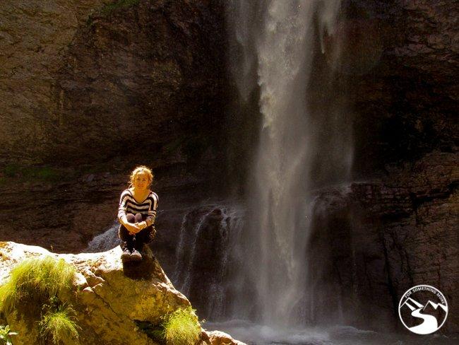 Skakavac Waterfall in Sutjeska National Park