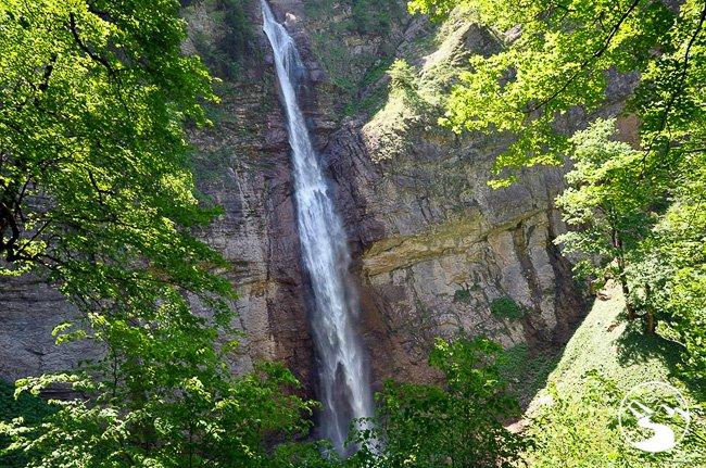 Skakavac Waterfall in Sutjeska National Park is one of the Bosnia Waterfalls