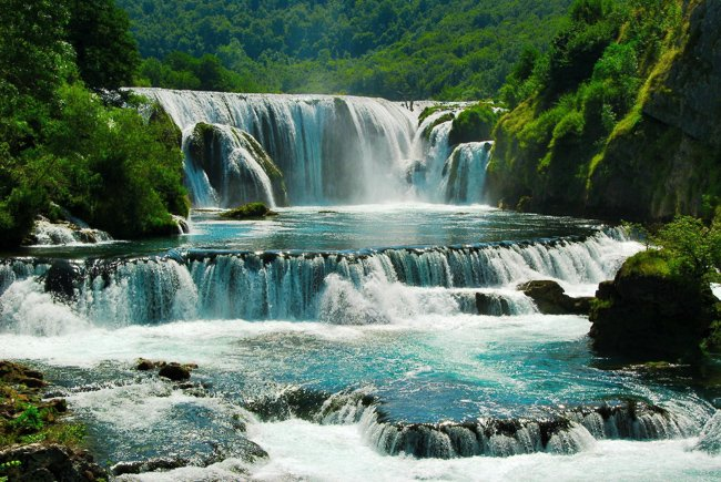 Strbacki Buk Waterfalls