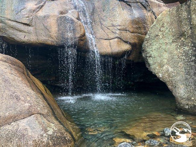 waterfalls at the base of Tai Shui Hang Waterfall