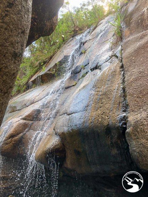 water at the base of Tai Shui Hang Waterfall