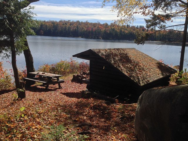 A scene along the Gull Lake Trail in Old Forge, New York