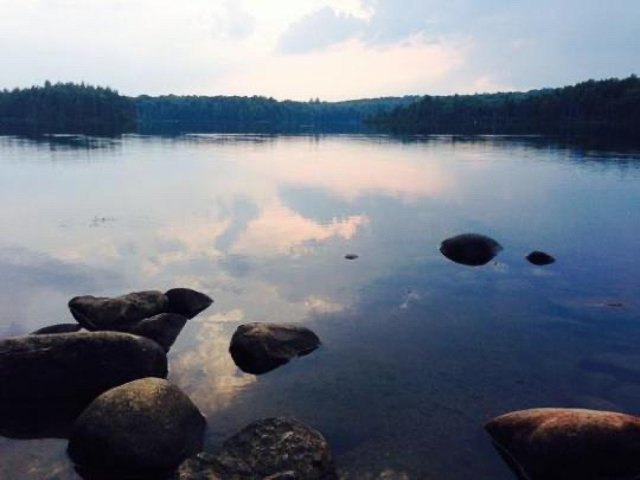 A view of Nick's Lake in Old Forge, New York
