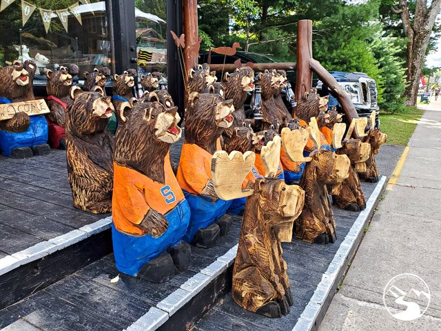 Bear Statues found along Main Street in Old Forge