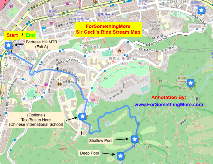 Map for Sir Cecil's Ride Stream