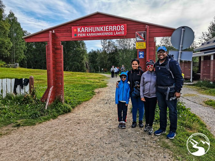 Back at the start of the Karhunkierros Trail