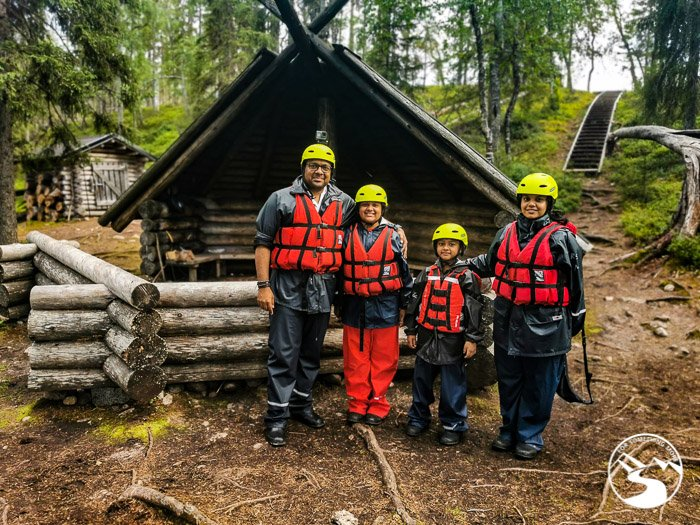white water rafting is a day trips in Lapland Finland
