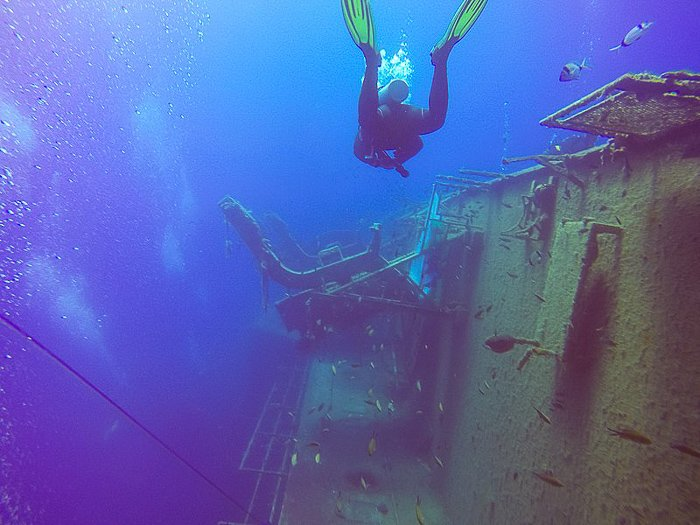 scuba diving on a Cyprus Family Holiday