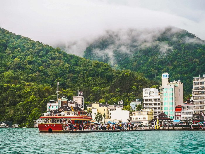 Sun Moon Lake is one of the outdoor family adventures in Taiwan