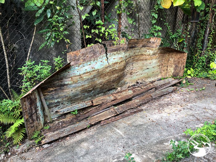 a decaying fishing boat