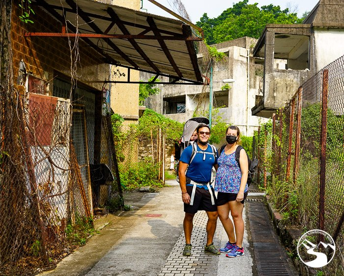 family photo in the Ma Wan (馬灣) ghost town