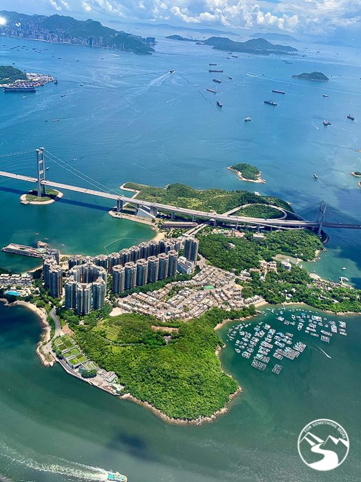 aerial view of Ma Wan (馬灣)