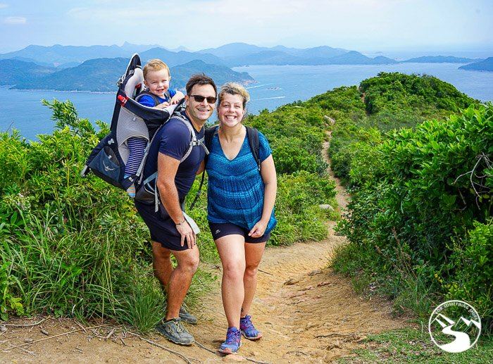 Family hiking on Lung Ha Wan Country Trail (龍蝦灣)