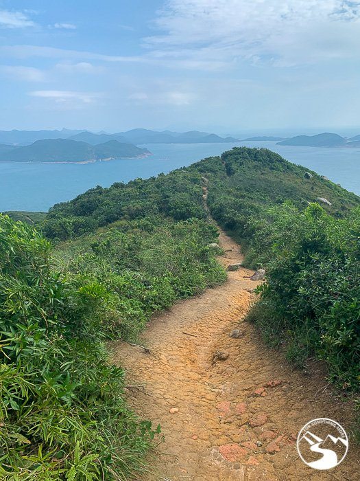 Looking northward on the Lung Ha Wan Country Trail (龍蝦灣)
