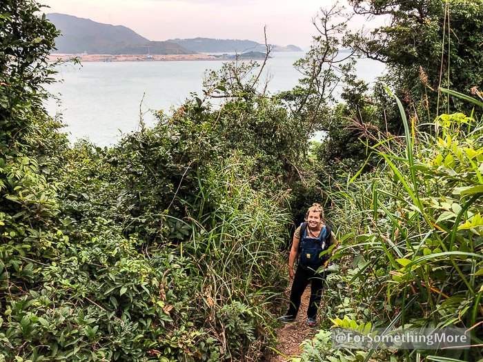 mother and baby hiking in hong kong