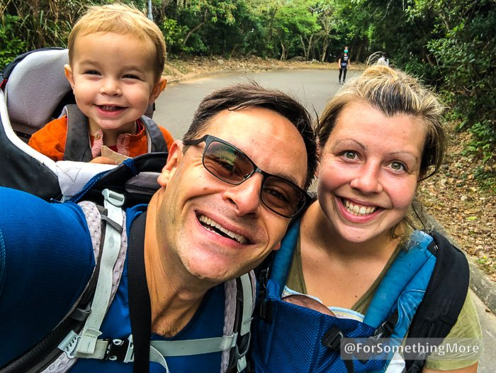 family hiking Leaping Dragon Walk (龍躍徑)