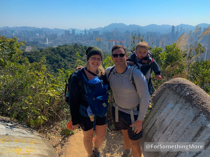 ForSomethingMore family photo at the Eagle's Nest Nature Trail (鷹巢山)