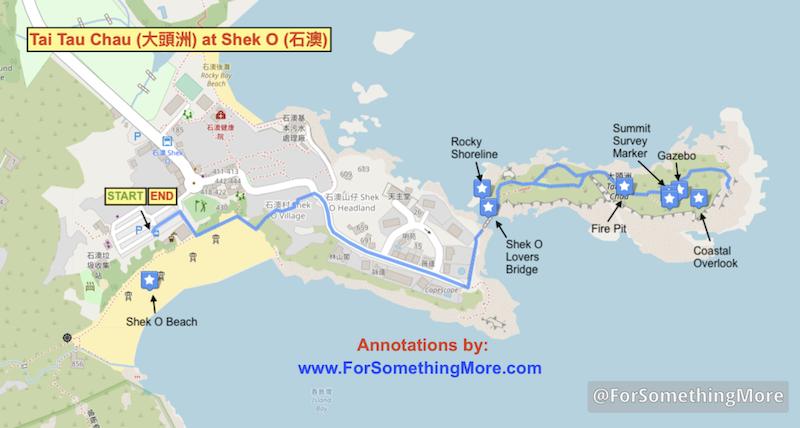 Tai Tau Chau (大頭洲) at Shek O (石澳) map