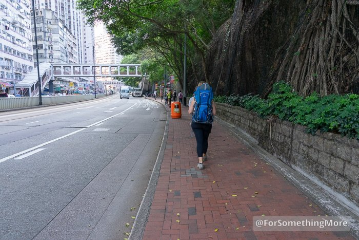 Woman hiking on King's Road