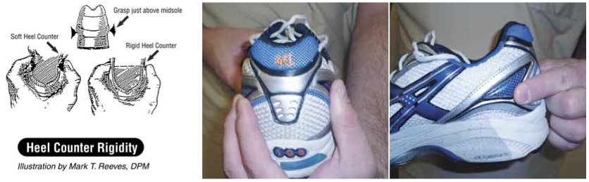 heel counter rigidity shoe test