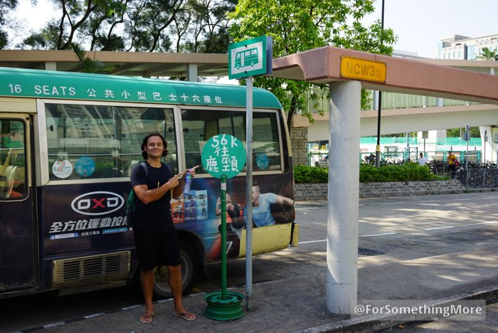 56k green minibus stand at Fanling MTR Station
