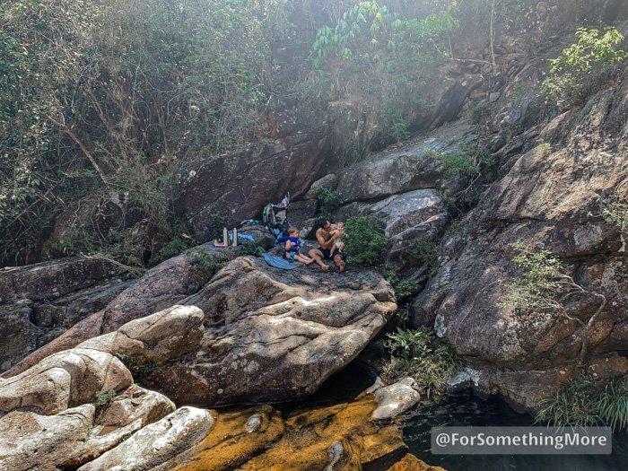 family picnic at Ping Nam Stream